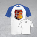 """BSG Stahl Riesa Fanshirt """"Stahlarbeiter-Logo"""" weiß/royalblau"""