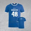 """BSG Stahl Riesa Fanshirt """"Neunzehn 48"""" blau/weiß"""