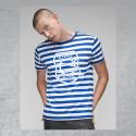 """BSG Stahl Riesa Fanshirt Damen """"Spriped Logo"""" blau/weiß"""